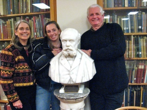 The Baxter Project Team: Daughter Alison Baxter Marlow, Andrew Cameron Bailey, James Phinney Baxter and I at the Portland Public Library